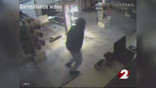 Surveillance video shows break-in at local gun shop - WDTN
