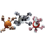 Multipet Sport Ball/rope Dog Toy