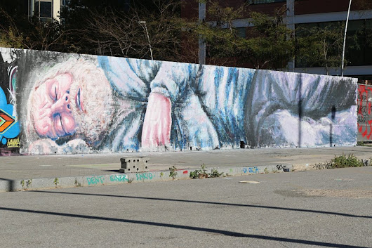 "By Alaniz - ""A sleeping Prince of Rome"" In Glories, Barcelona. 