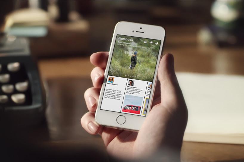 facebook paper news reading app designboom