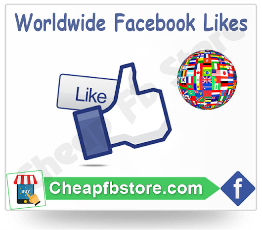 Buy Worldwide Facebook Page Likes - Cheap FB Store