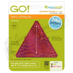 "Accuquilt GO! Equilateral Triangle-4 1/2"" Sides 4 1/4"" Finished - 55429"