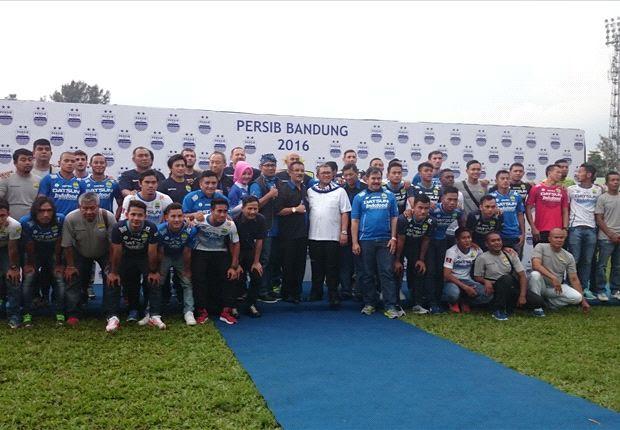 Persib meluncurkan skuat mereka untuk ISC A 2016 di Stadion Siliwangi, Bandung, Sabtu (23/4).
