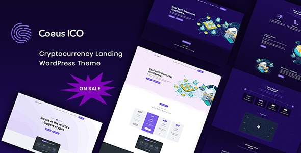 Coeus v1.1.5 - Cryptocurrency Landing Page Theme