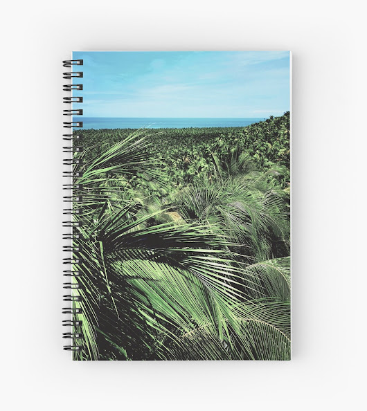 'Nature palm ' Spiral Notebook by MendesMay
