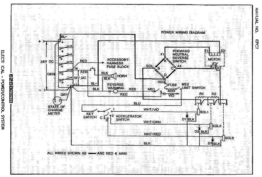 Need a wiring diagram for ezgo k2894 serial #831577