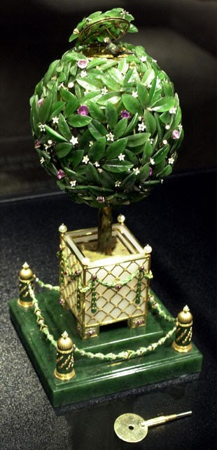 "O ovo ""Laranjeira"", de Fabergé (Foto: William Thomas Cain/Newsmakers/Getty Images)"