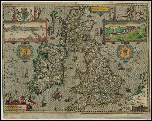 Great Britain + Ireland - John Speed proof maps 1605-1610