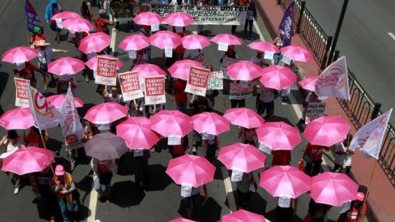 FILIPINAS. Las marchas por el Día del Trabajador (AP).