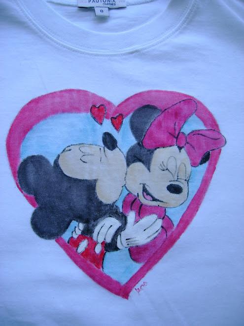 T-shirt Minnie e Mickey