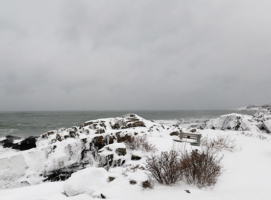 Bring your snowshoes if you're heading to The Marginal Way in Ogunquit - Ogunquit Barometer