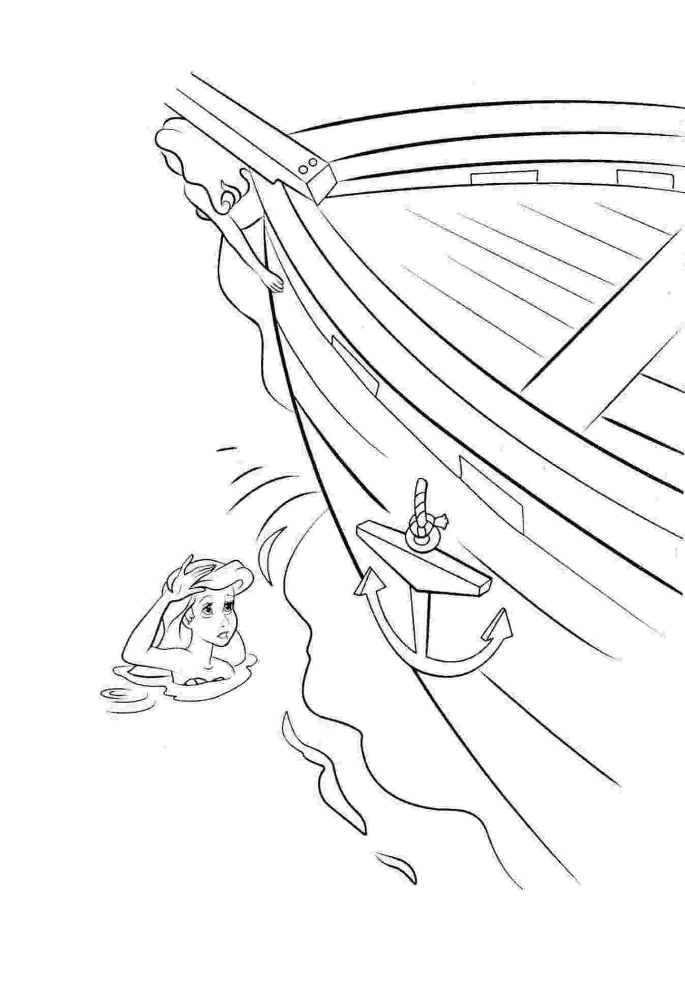 Ausmalbild Arielle Meerjungfrau kostenlos 2