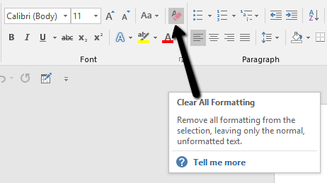 How to Remove Formatting in Word and Google Docs