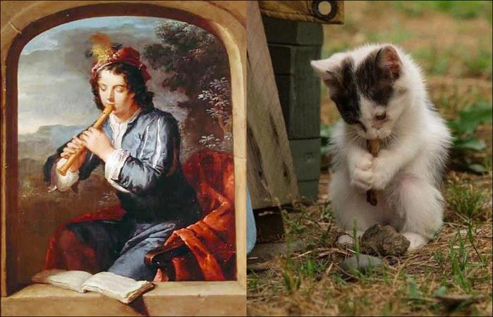 кошки в живописи 7 (700x450, 123Kb)