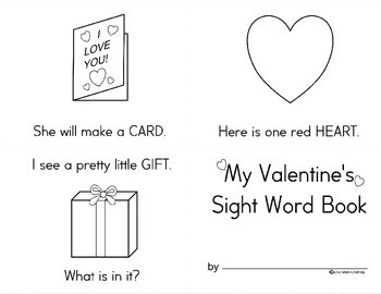 FREE - Valentine's Dolch Sight Word mini-book