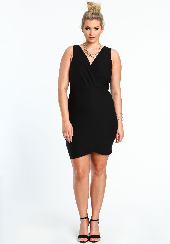 New look black bodycon dress