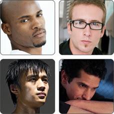 Montage of men.