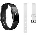 Fitbit Inspire HR Bundle (Black) with Bonus Accessory Band