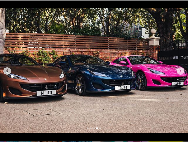 Billionaire businessman, Femi Otedola buys three Ferrari Portofino whips for his three daughters (photos)