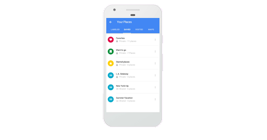 Google Maps now lets you create and share lists of places