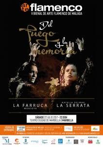 Resultado de imagen de DEL FUEGO Y LA MEMORIA. V Bienal de arte flamenco de Málaga.