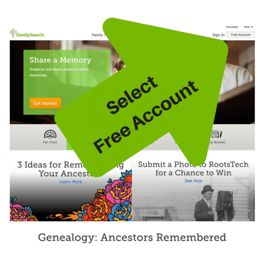 How to Create a Free FamilySearch Account - OnGenealogy