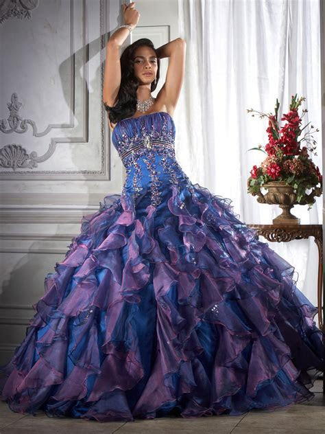 purple colored ball gown wedding dress ? Cherry Marry