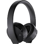 PlayStation Sony Playstation 4 Gold Wireless Stereo Headset, Black 3002498