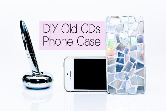 Create a DIY stylish phone case using old CDs