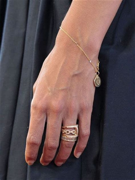 Katie Holmes wedding ring. Stackable rose gold rings with