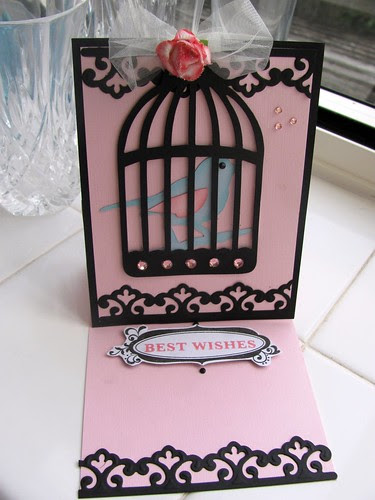 Birthday Easel card (open)