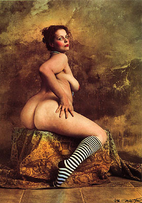 Jan Saudek, Portrait of Young Lady G., 1997