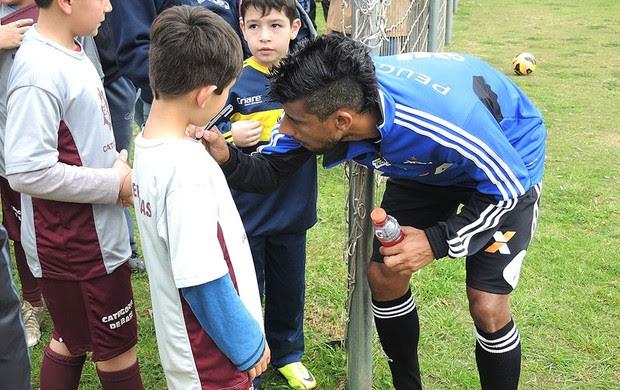 Léo moura Treino Flamengo (Foto: Cahê Mota)