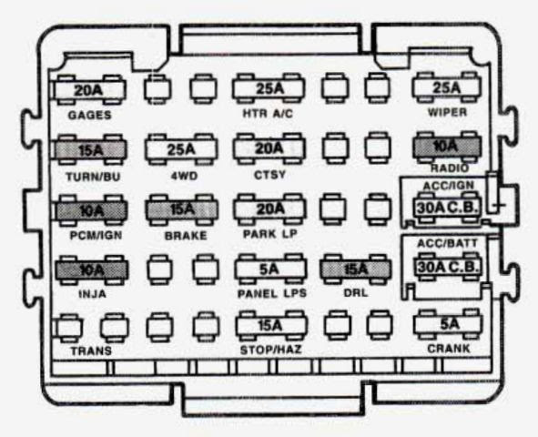 1994 Gmc Sierra 1500 Fuse Box Diagram