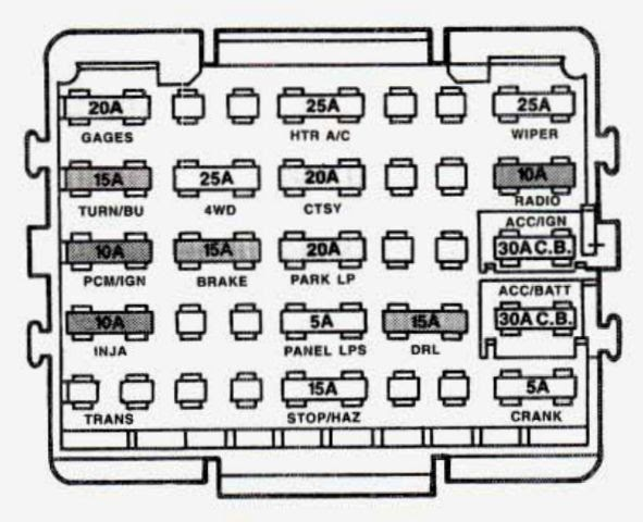 1993 Gmc Jimmy Fuse Box Diagram