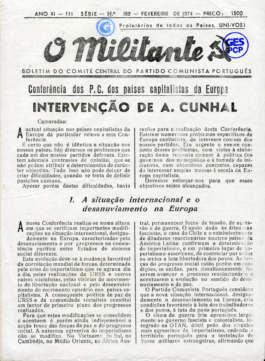 O Militante, Série 3, n.º 182 (FEV. 1974)