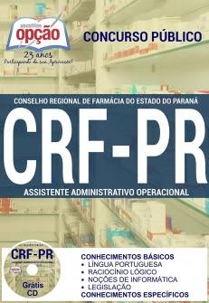 Conselho Regional de Farmácia / PR (CRF/PR)-ASSISTENTE ADMINISTRATIVO OPERACIONAL