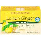 Bigelow Herb Plus Probiotics Tea, Lemon Ginger - 18 count, 1.39 oz box