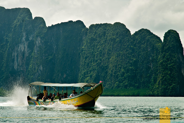 Tourists at Thailand's Phang Nga Bay