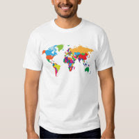 World map t shirts