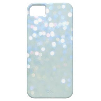 Baby Blue/White Glitter iPhone 5 Cover