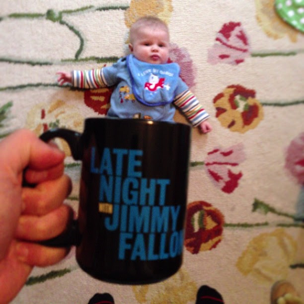 Baby Mug Shot. @latenightjimmy cc @jimmyfallon