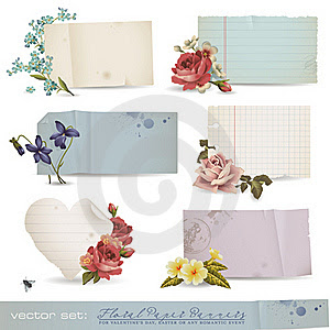Floral paper banners
