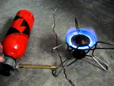 How to safely light a camping stove (MSR Whisperlite)