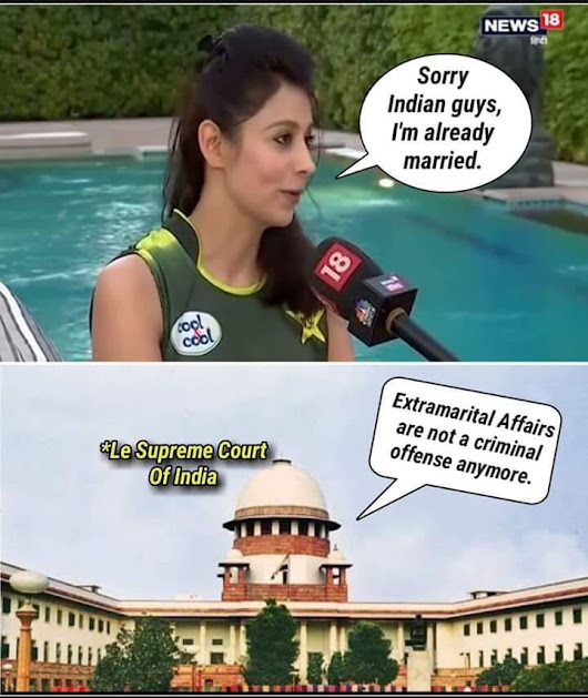 Bewafai Legal Now: Section 497 Memes - WhatsApp Text | Jokes | SMS | Hindi | Indian