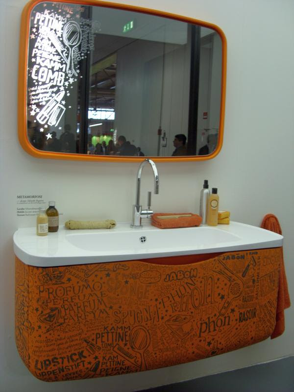 Youthful Orange Bathroom