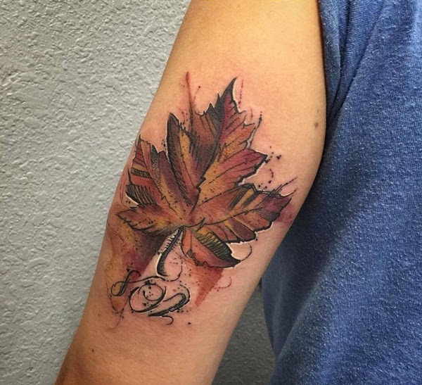 90 Leaf Tattoos that Celebrate the Fall