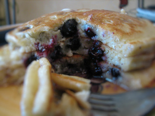 Kelly's Blueberry Mascarpone Pancakes