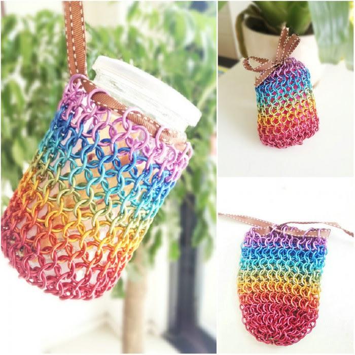 Come rendere fai da te arcobaleno passo sacchetto filo per passo le istruzioni del tutorial pollice