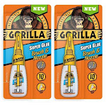The Gorilla Glue 7500102 10 Gram Gorilla Super Glue Brush & Nozzle